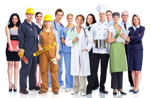 Группа из рабочих различных профессий