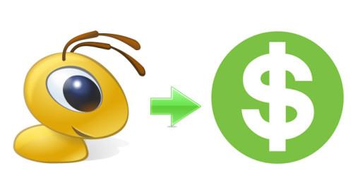 Логотип муравей ВебМани и доллар