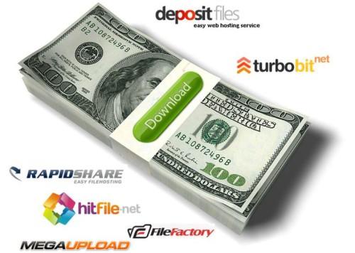 Пачка долларов и ссылки на файлообменники
