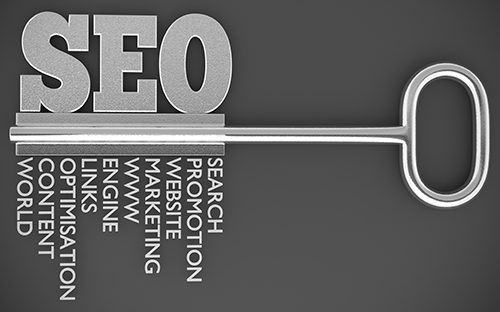 Ключ и надпись SEO