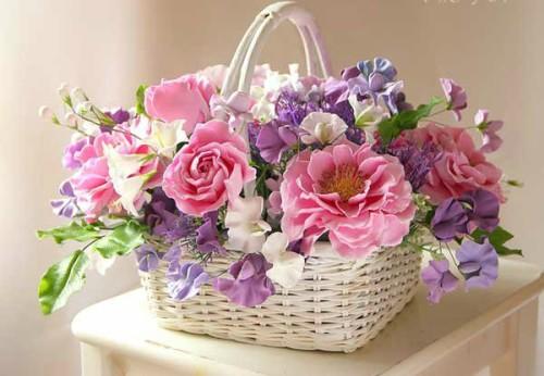 Букет из керамических цветов