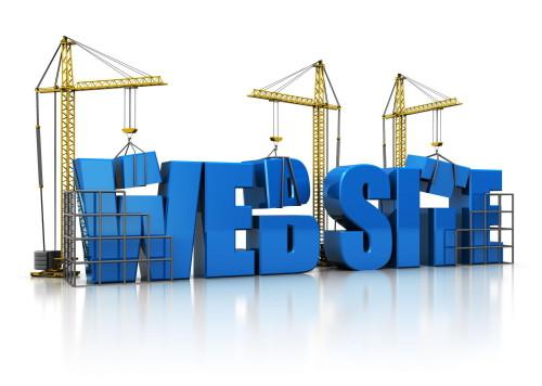 Строительные краны строят веб сайт