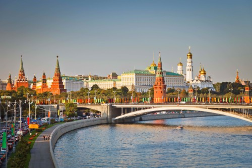 Вид на кремль Москвы