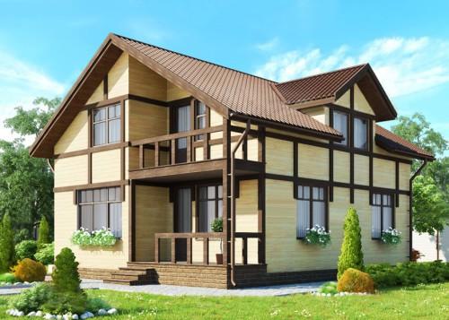 Красивый каркасный дом