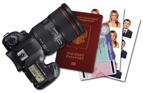 Камера, паспорт, фотографии