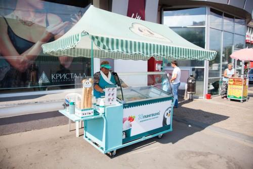 Летняя торговая точка по продаже мороженного