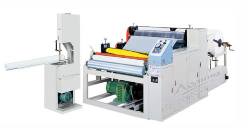 Полуавтоматический станок для производства туалетной бумаги