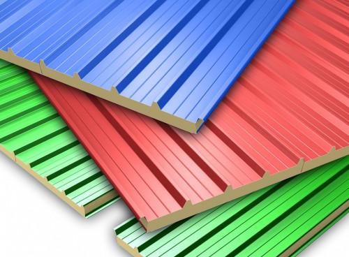 Разноцветные сэндвич-панели