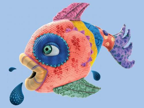 Рыба из ткани