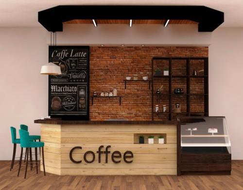 Торговый ларёк продающий кофе