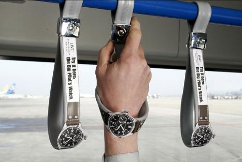 Пример партизанского маркетинга - реклама часов