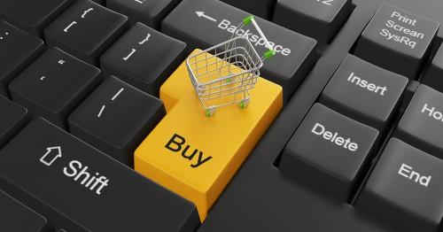 Клавиатура и тележка для покупок