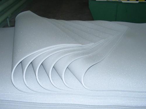 Листы белого поролона