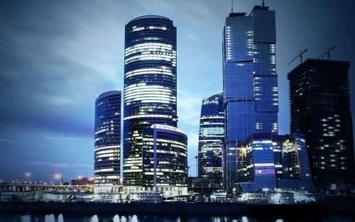 Общий вид зданий Москва Сити