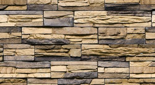 Стена из облицовочного камня