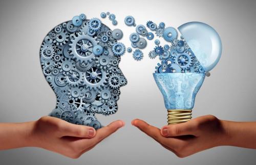Лампочка передаёт идеи человеку