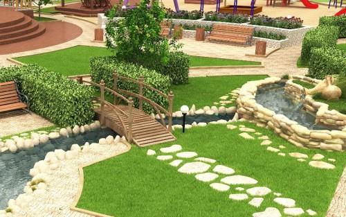 Красивый ландшафтный дизайн