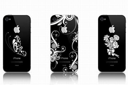 Смартфоны iPhone с рисунками нанесёнными лазерной гравировкой