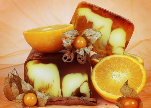 Апельсиновое мыло сделанное своими руками
