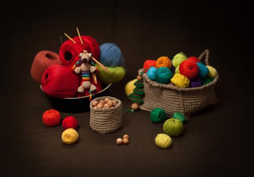 Набор предметов для рукодельницы и креативная игрушка