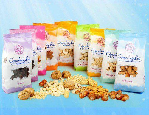 Фасованные орехи в пакетиках