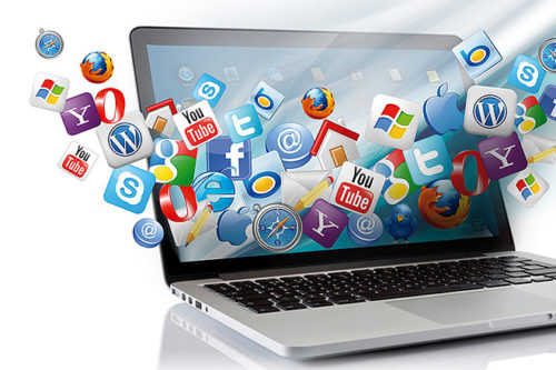 Ноутбук и иконки