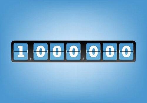 Надпись 1000000