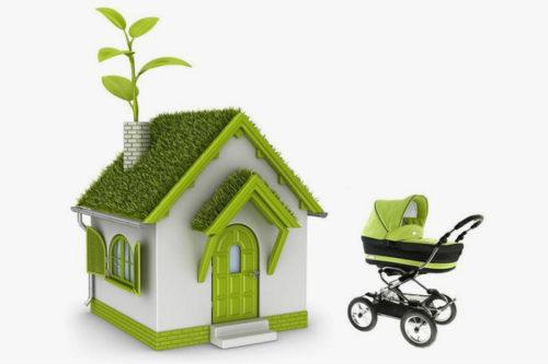 Дом и детская коляска