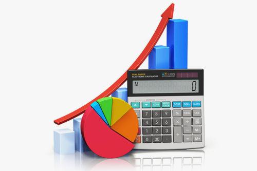 Калькулятор и график роста продаж