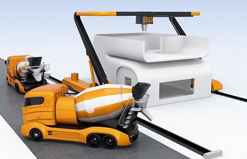 Строительный 3D принтер строит дом